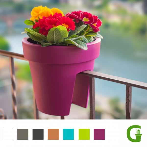 Fresh Flower Balcony 25 cm Balkonkasten Blumenkasten Geländertopf