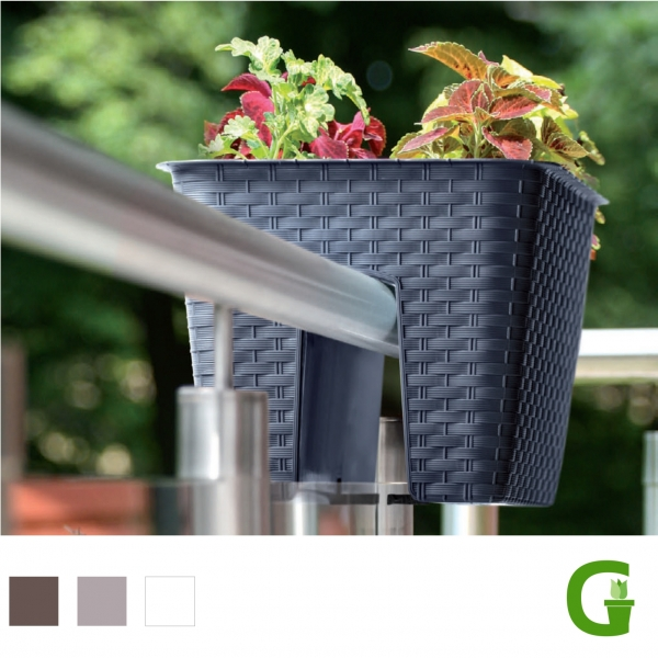 Rattan Balcony 28 cm - Flower Bridge in Rattanoptik