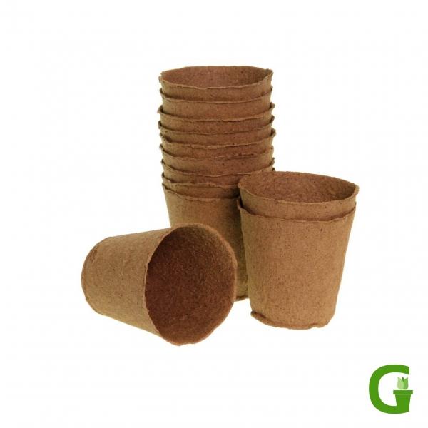 Anzuchttöpfe, rund, 24 Stück, kompostierbar