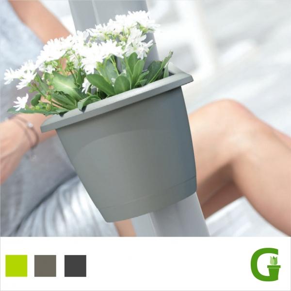 Mallorca Flower Clicker Blumentopf für Regenfallrohre