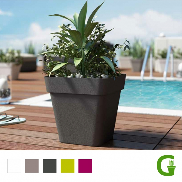 Central Garden Wheels Square Eckiger Blumentopf 28 cm | 40 cm