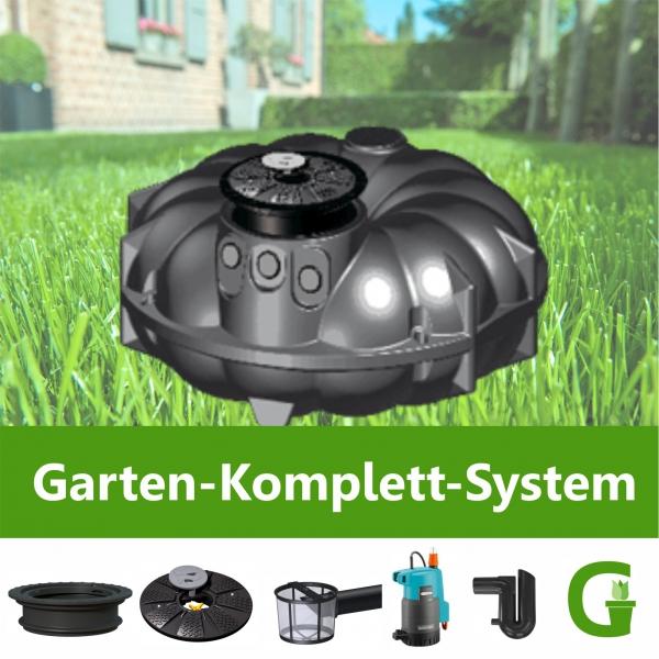 REWATEC AQUA-KING Garten-Komplett-System 1.500 - 10.000 l Flachtank FREI HAUS!