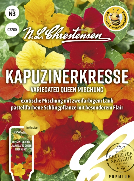 Kapuzinerkresse (Variegated Queen Mischung)