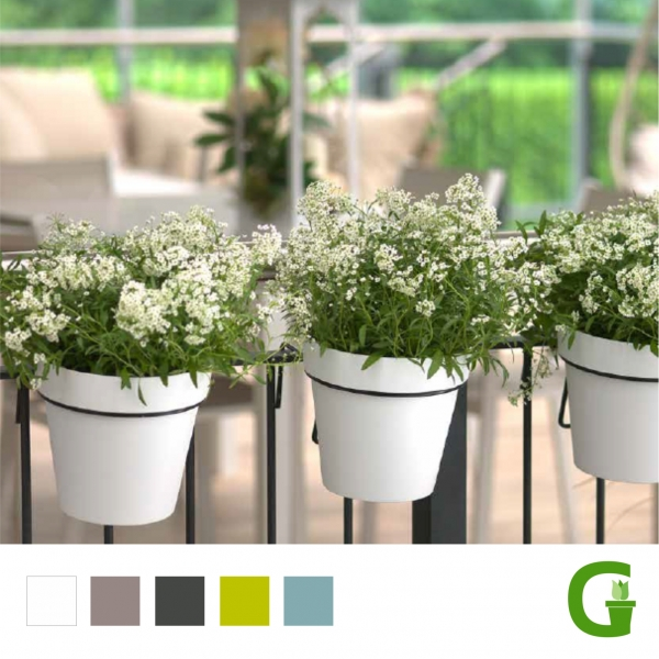 Central Garden Balkontopf 20 cm mit Geländer-Halterung