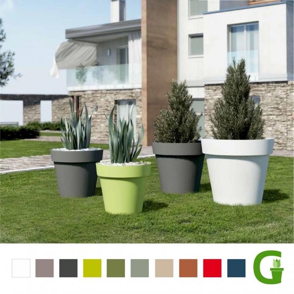 Central Garden Round Wheels Runder Blumentopf mit Rollen 15 cm | 20 cm | 30 cm | 40 cm | 50 cm | 60