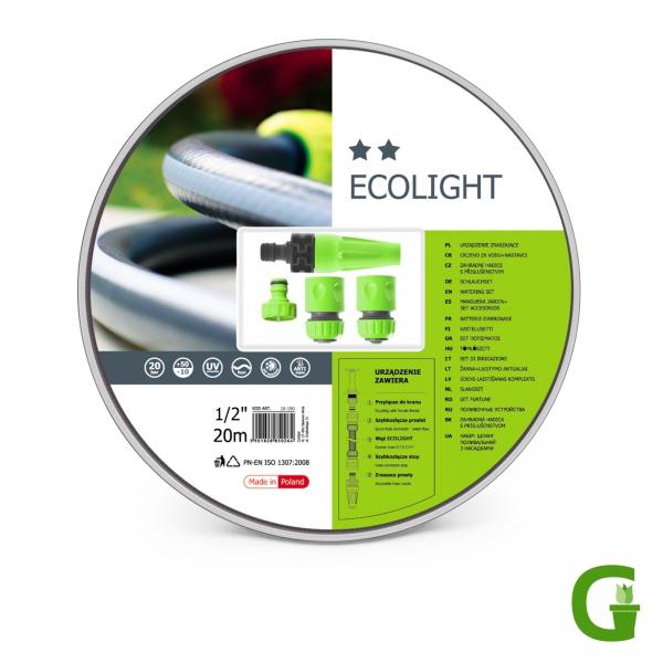 """Cellfast ECOLIGHT Gartenschlauch-Set 20 m, 1/2"""" oder 3/4"""""""