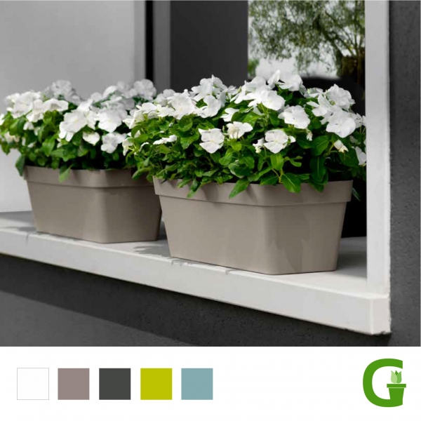 Central Garden Blumenkasten Balkonkasten 40 cm | 50 cm | 60 cm optional mit Wassersystem