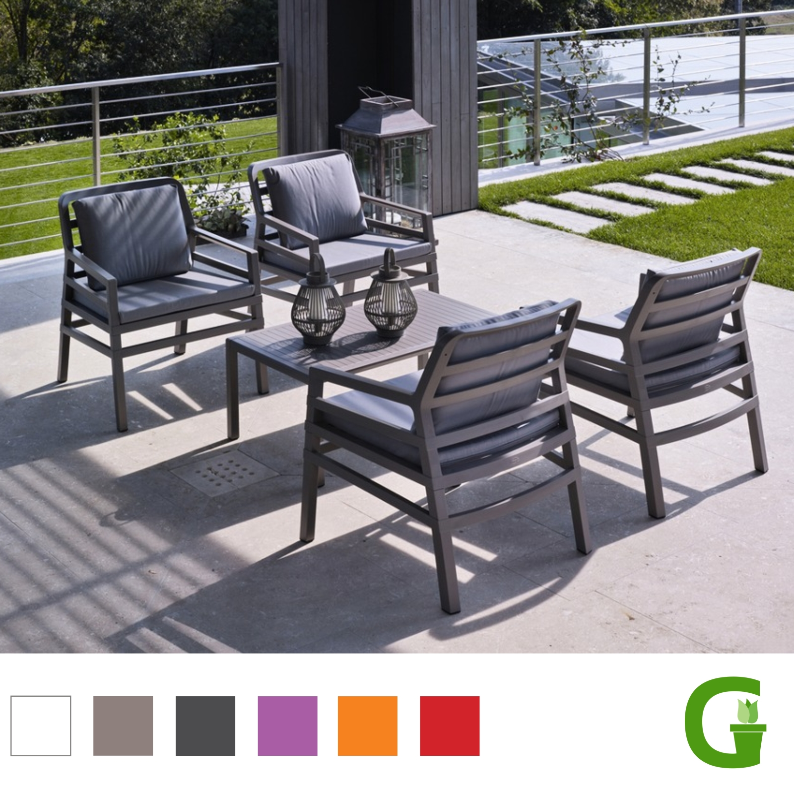 nardi aria lounge sessel in verschiedenen farben mit kissen arredo alles. Black Bedroom Furniture Sets. Home Design Ideas
