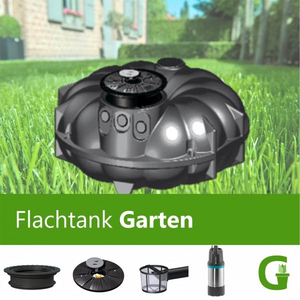 Flachtank Garten Komplett-System 1.500 | 3.000 l | 5.000 l | 8.000 l | 10.000 l