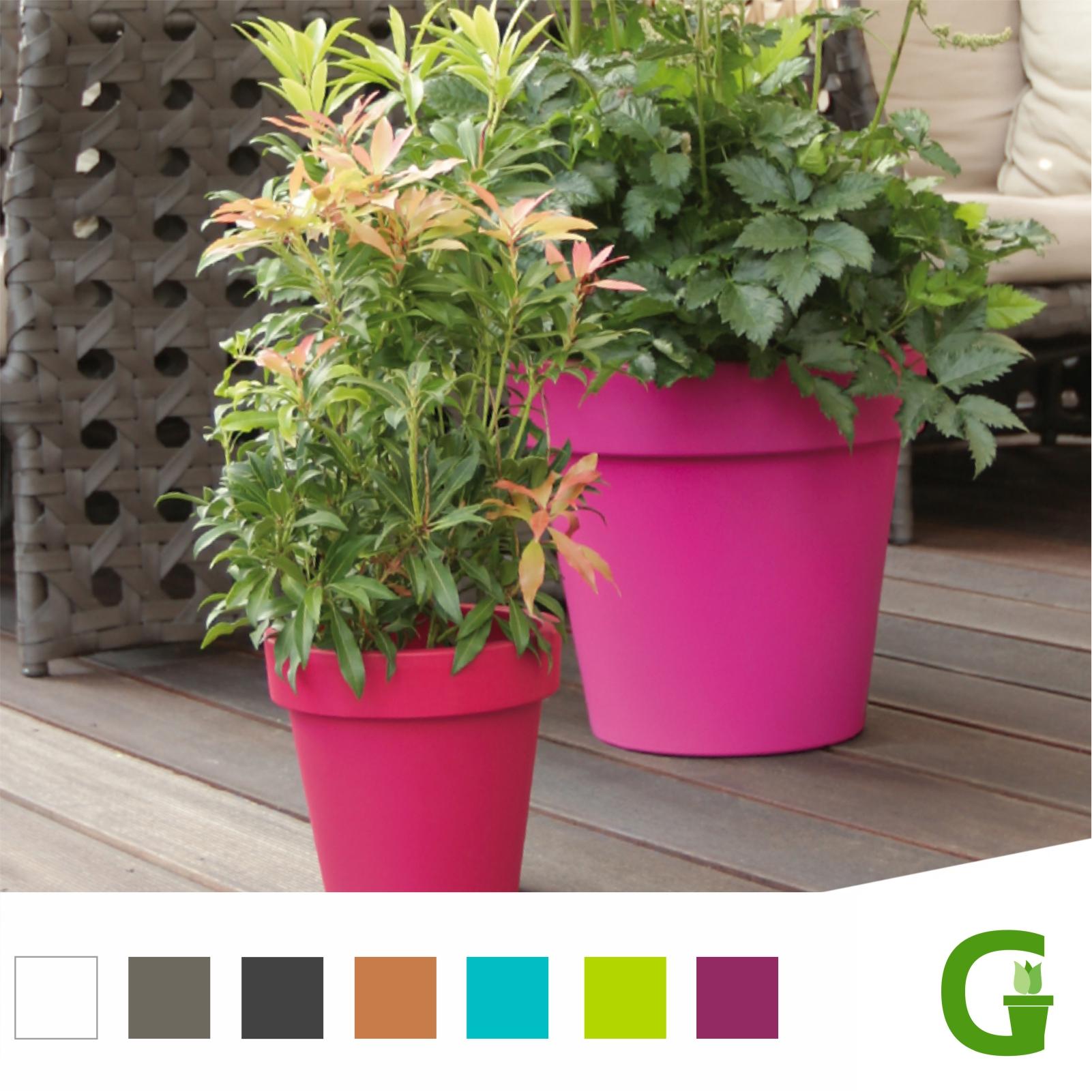 fresh flower round blumentopf mit untersetzer 16 30 40. Black Bedroom Furniture Sets. Home Design Ideas