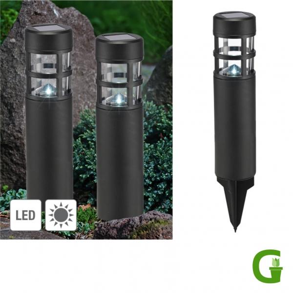 LED Solar Gehwegleuchten, 2er Set