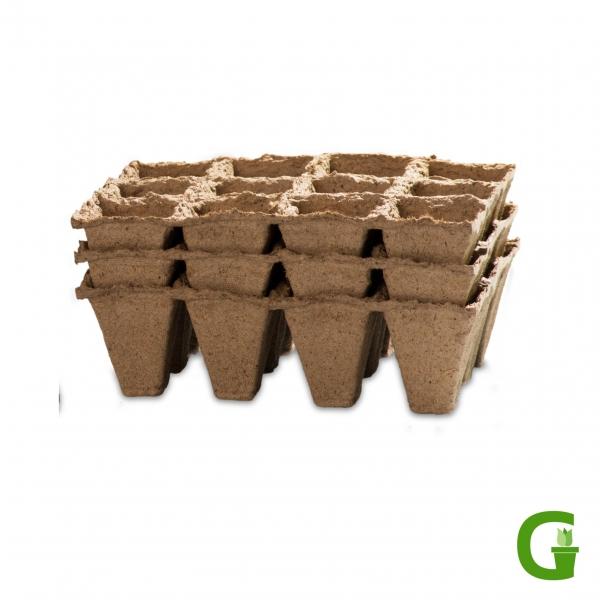 Anzuchttöpfe, eckig, 36 Stück, kompostierbar