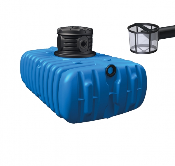 4rain FLAT Flachtank mit Filterkorb 1.500 - 10.000 l
