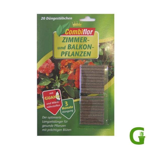 Combiflor Düngestäbchen mit Guano für Zimmer- und Balkonpflanzen, 20 St.