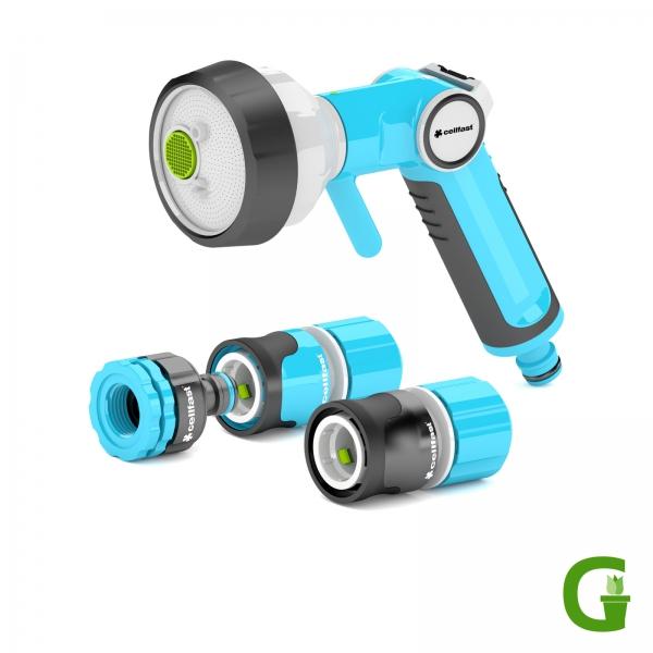 Cellfast ERGO Premium-Set mit 4-Funktions-Gartenbrause