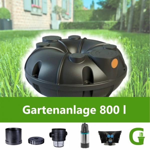 Neo Gartenanlage 800 l Flachtank Flachspeicher